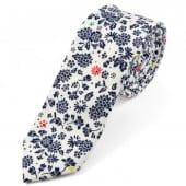 bilo-modra-bavlnena-kravata-s-kvetinovym-vzorem-trendhim-31