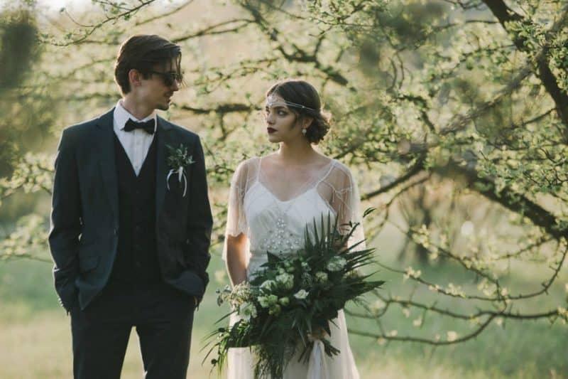 EDITORIAL: Moderní art deco svatba