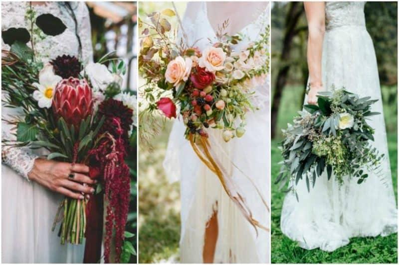 3 nové trendy pro svatební kytice