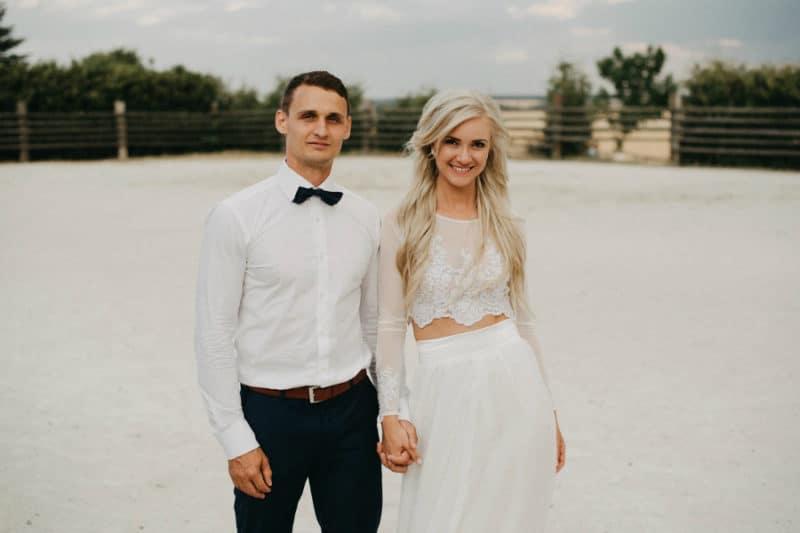 Elegantní venkovní svatba: Martina a Adam