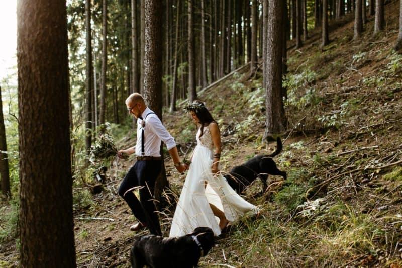 Netradiční svatba venku: Simča a Víťa