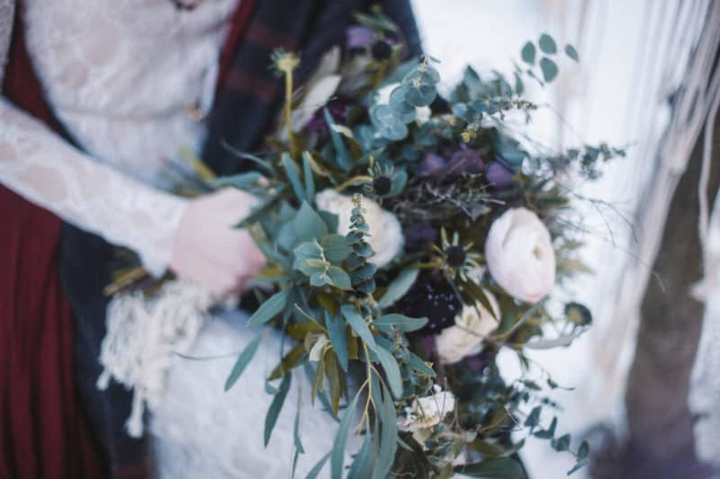 EDITORIAL: Zimní boho svatba