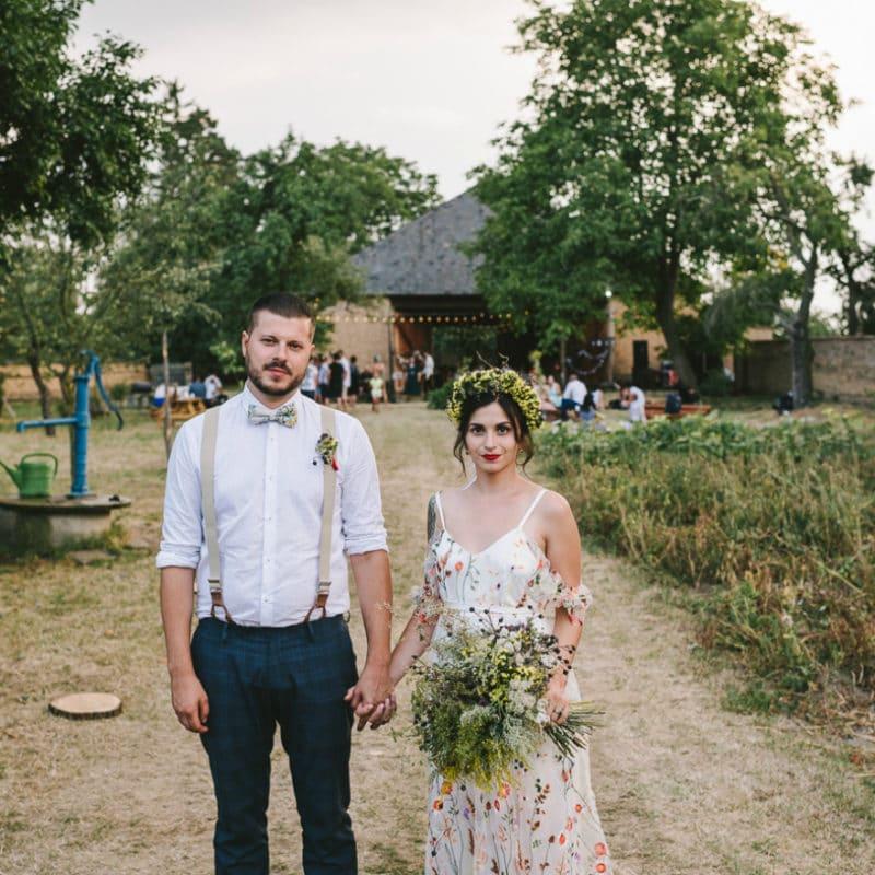Ekologická svatba ve skanzenu: Lucka a Jindra