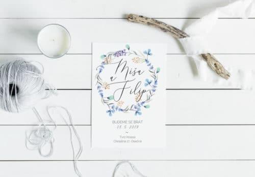 levní svatební oznámení k vytištění