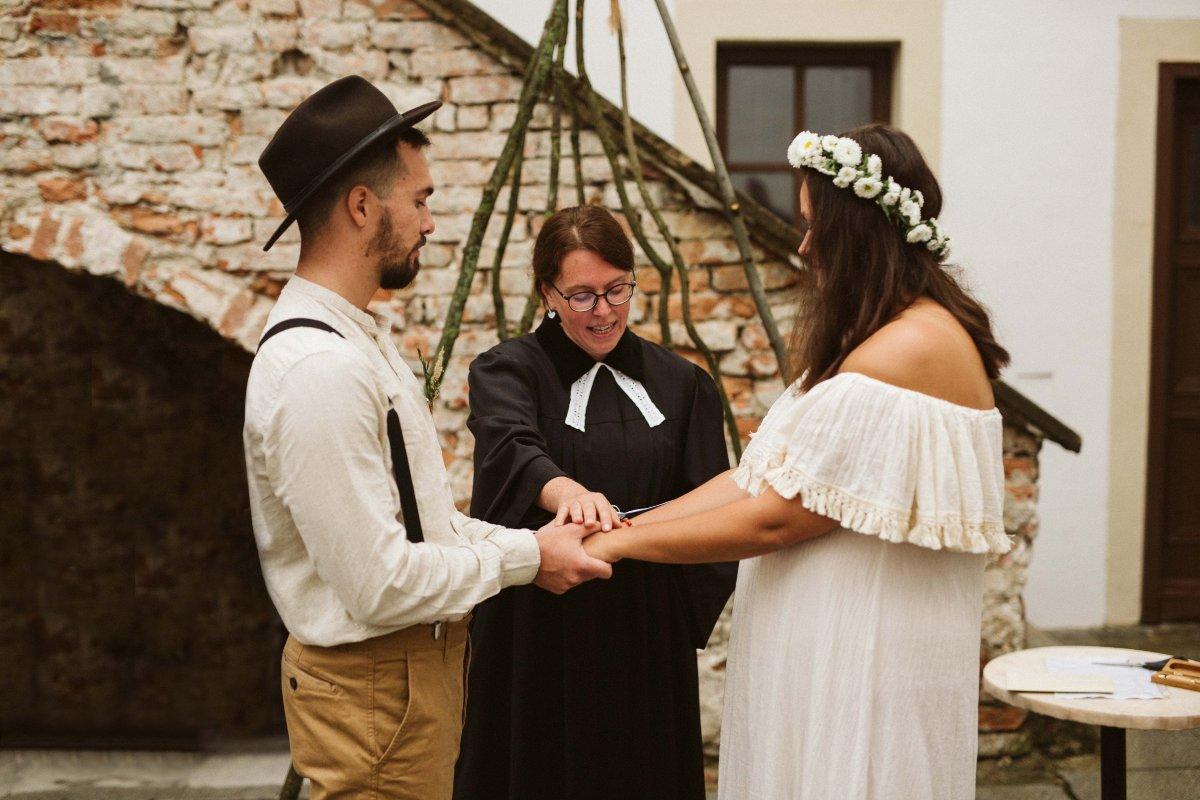 evangelický svatební obřad foto Simmer