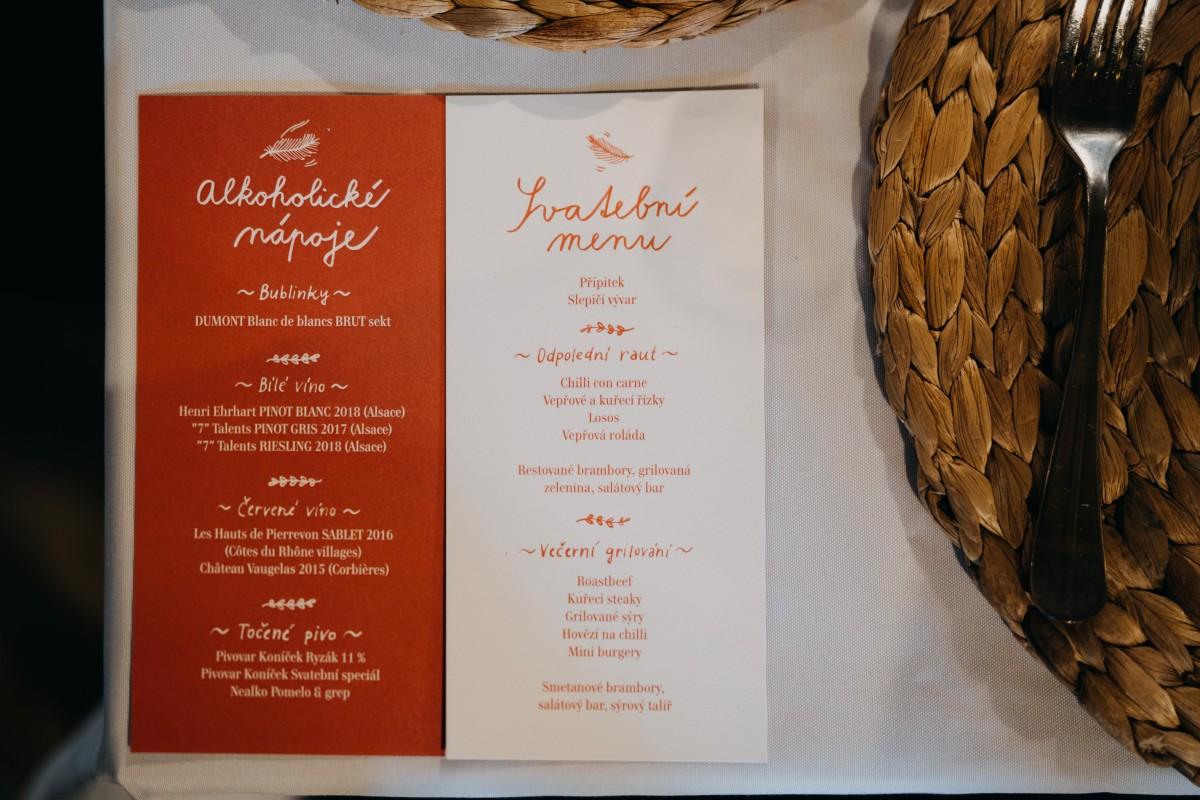 Planeta manželství svatební oznámení menu tiskoviny