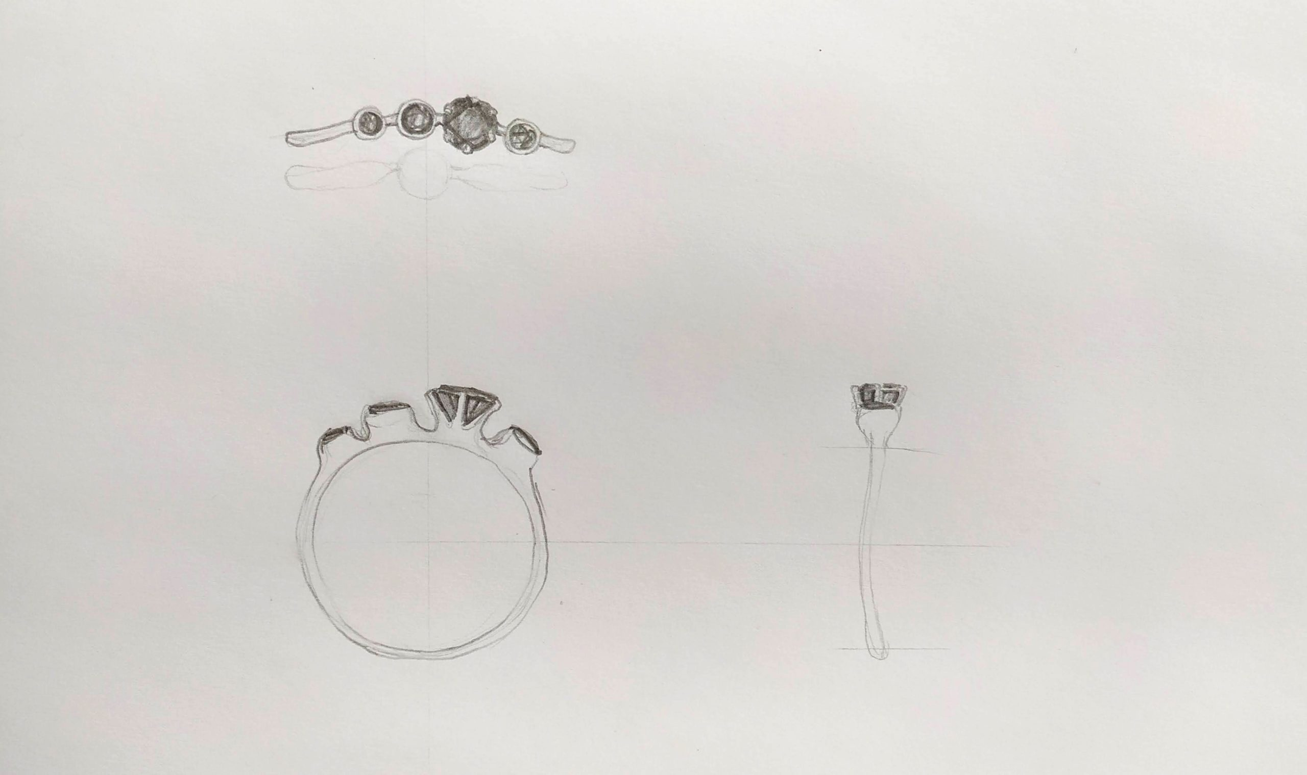 dámský snubní prsten černý diamant elisa lens
